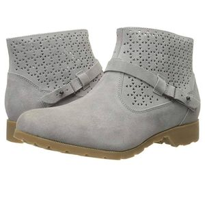 Teva Delavina Gray Cut-out Ankle Booties